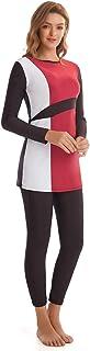 ثوب سباحة مسلم سباحة نسائي يحافظ لون مطابق لتغطية كاملة من ثلاث قطع ثوب سباحة شاطئ للنساء