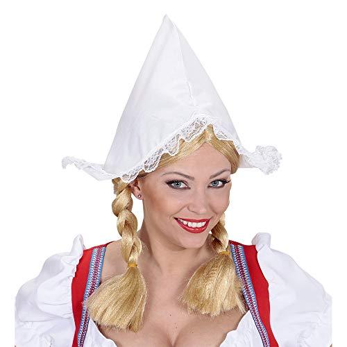 Widmann 0185R Hut Holländerin für Erwachsene, Damen, Weiß, Taglia unica