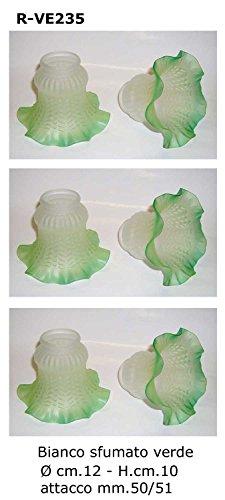 Abat Jour Vervangende glazen lampenkapjes voor tafellampen, set van 6 stuks lampenkapjes glas reservelamp campanella lamp wandlamp