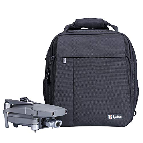Lykus M1 Water Resistant Travel Backpack for DJI Mavic 2 Pro/Zoom, Mavic Air 2, Mavic Mini, 4-in-1 Backpack/Case/Shoulder Bag/Cross Body Bag