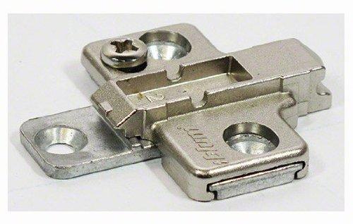 BLUM CLIP Kreuzmontageplatte, Spax-Schrauben, HV: 2-teilig, Distanz 0 mm