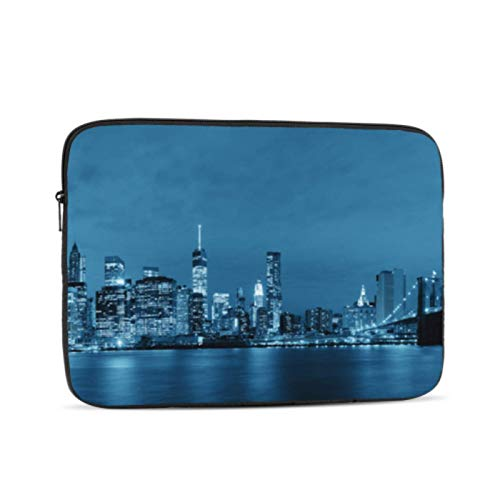 Case For Macbook Air Beautiful City Skyline View Macbook Pro Screen Protector Multi-Color & Size Choices 10/12/13/15/17 Inch Computer Tablet Briefcase Carrying Bag