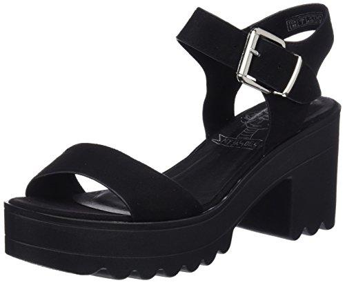 COOLWAY Lana, Zapatos con Tacon y Correa de Tobillo para Mujer, Negro (Black 000), 37 EU