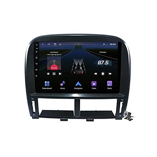 FDGBCF Radio de Coche Android 10 para Lexus LS430 GSP 1999-2006 Navegación GPS estéreo para Coche Soporte de Pantalla táctil de 9 Pulgadas 5G WiFi Bluetooth Control del Volante/FM RDS DSP/Carplay