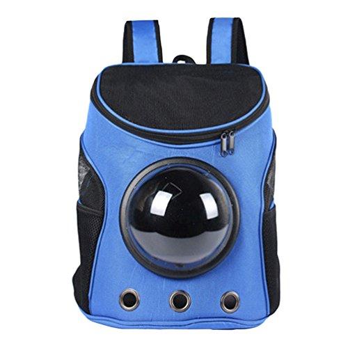 LvRao Haustiertragetasche Hunde Rucksäcke Katze Tragetasche für Kleinen Haustiere in Outdoor-Reise Wandern Tasche (Blau, 35 * 31 * 25cm)