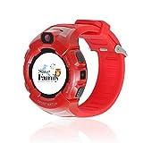 Reloj con GPS para niños Save Family Modelo Kids Sport. Smartwatch con botón SOS, Permite Llamadas y Mensajes. (Rojo)