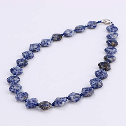 AOKIGN Collar Llamativo Piedras Preciosas Naturales Joyas Cuadradas Moda Dama Gargantilla Lujoso