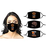 Basketball is in My DNA Funny Sports Player Lover Quote Gift 3PCS Adult Face Masks with 6 Filters and Adjustable Strap, Reusable and Breathable Face Bandanas Scarf