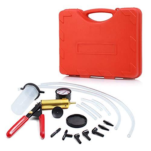 Kit spurgo Freni, 17pcs Tester per pompe a vuoto per autoveicoli, Pompa Manuale A Depressione per Spurgo Freni per Automobili Auto e Moto