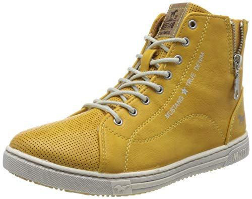MUSTANG Damen 1349-501 Hohe Sneaker, Gelb (Gelb 6), 38 EU