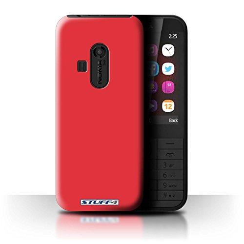 Custodia/Cover Rigide/Prottetiva STUFF4 stampata con il disegno Colori per Nokia 220 - Rosso