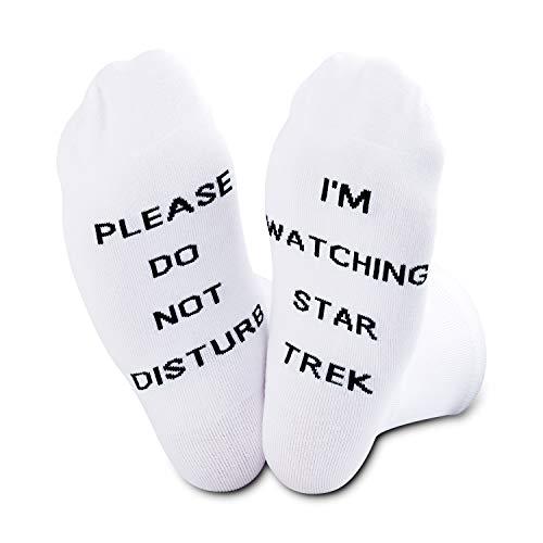 TSOTMO Pleas Do Not Disturb I'm Watching Star Trek Socks (Star Trek)