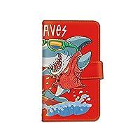 [bodenbaum] Xperia Z5 SO-01H / SOV32 / 501SO 手帳型 スマホケース カード ミラー スマホ ケース カバー ケータイ 携帯 SONY ソニー エクスペリア ゼットファイブ docomo au SoftBank サメ 海 鮫 サーフィン d-406 (D.レッド)