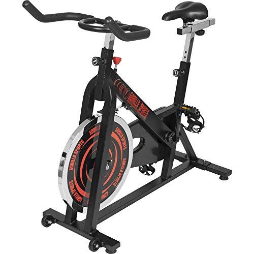 GORILLA SPORTS® Indoor Cycling Bike mit 13 kg Schwungrad – Profi-Heimtrainer Fahrrad für Zuhause bis 110 kg belastbar