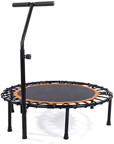 BRFDC Trampolin Fitness Aptitud Rebounder el trampolín con la manija Ajustable Barra Plegable Ejercicio trampolín for Adultos o niños