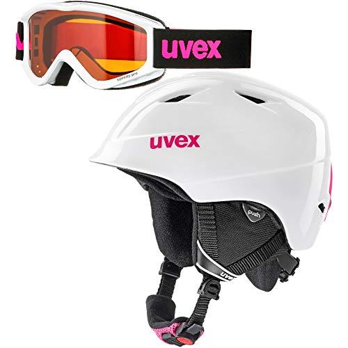 Uvex Kinder airwing 2 set Skihelm weiß 52-54