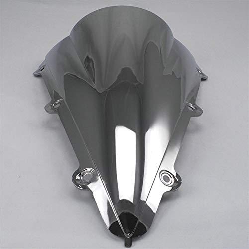 Spoiler Motorrad-Screen-Glaswindschutz Windschutzscheibe Schotts For 2004 2005 2006 04 05 06 Fit For Yamaha YZF 1000 R1 YZF-R1 Schwarz Weiß (Color : Silver)