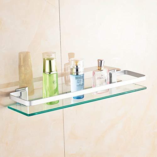 XITER badkamer glazen plank badkuip wand doucheplank douchebak en geborsteld 304 roestvrij stalen wandhouder