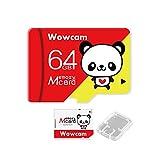 Wowcam メモリカード 64GB class10 UHS-I対応 高速転送 変換アダプター + 保管用クリアケース付属 動作確認済