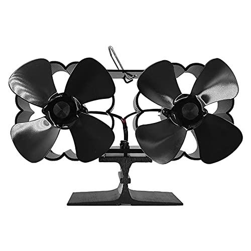 Ventilador De Chimenea Para Estufa De Leña De 8 Aspas, Ventilador De Estufa De Doble Motor Accionado Por Calor,ventilador De Montaje En Pared/Escritorio,ventilador De Tubo De Estufa De Doble Cabezal