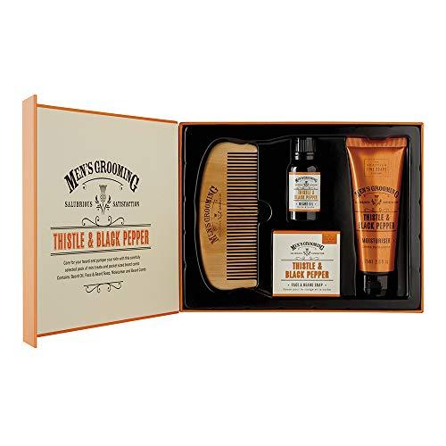 Schotse fijne zeep distel & zwarte peper gezicht & baard zorg kit
