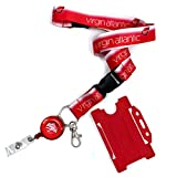 Virgin Atlantic Logo Dye Sublimation Lanyard Set