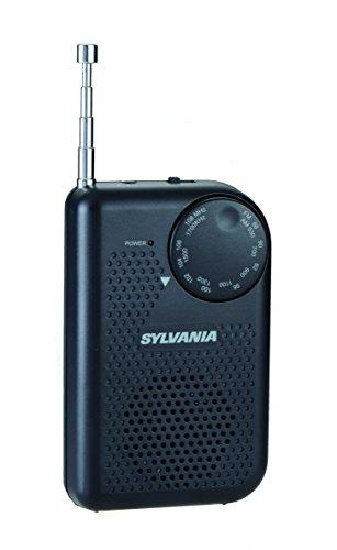 Portable AM/FM Pocket Radio With Built-In Speaker, Black