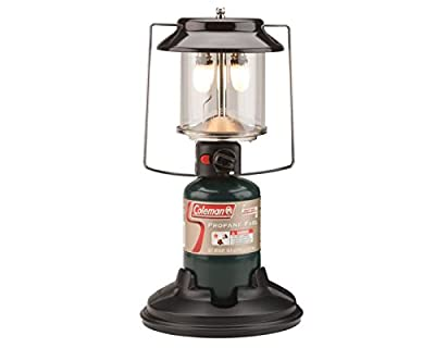 Coleman Gas Lantern | 1000 Lumens QuickPack 2-Mantle Propane Lantern with Carry Case