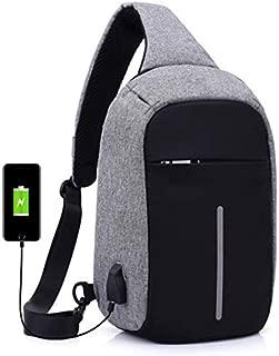 Multifunctional digital storage chest bag anti-theft handbag shoulder bag man Sports Backpack-grey[zZ]