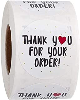 SOLDOUT™ 500 PCS Thank You For Your Order Craft Paper Stickers Round Adhesive Labels Baking Wedding Decoration Party Decor...