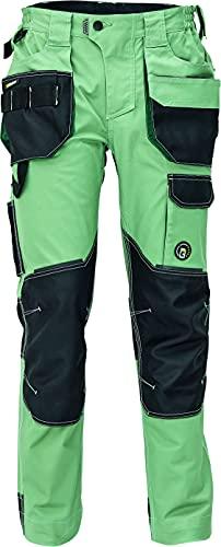 Dayboro Pantalones de Trabajo para Hombre - Ultra Cómodos - Elásticos y Duraderos con Bolsillos para Rodilleras - Verde 58