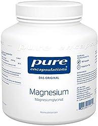 Pure Encapsulations - Magnesium (Glycinat) 120mg - gebunden an die AminosŠure Glycin wird Magnesium gut aufgenommen und toleriert - 180 vegane Kapseln