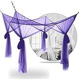 Mingi Summer Mosquito Net Elegante Cortina de Dosel de Encaje Home Netting Quarto Puertas para Camas Dobles Habitación para niños, D