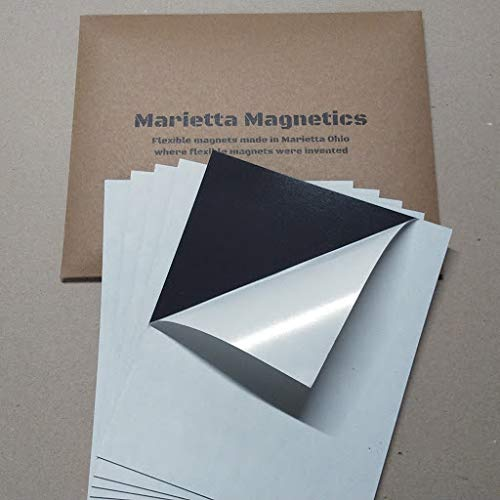 Marietta Magnetics - 50 Magnetic Sheets of 8 x 10 Adhesive 20 mi
