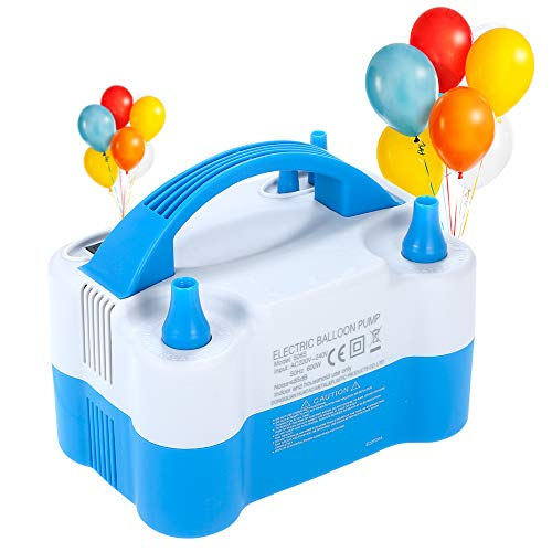 Bomba de globo de aire eléctrica Inflador portátil Máquina de globos de...