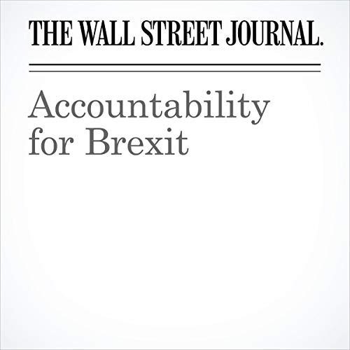 Accountability for Brexit audiobook cover art