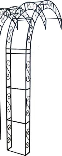 Unbekannt Rosenbogen Breite 130 cm Halbbogen Rosenspalier Rankhilfe Rosengitter