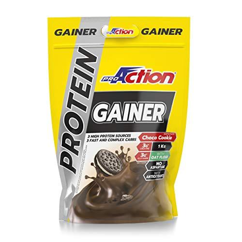 ProAction Protein Gainer (Ciocco Biscotto, Busta da 2 kg)