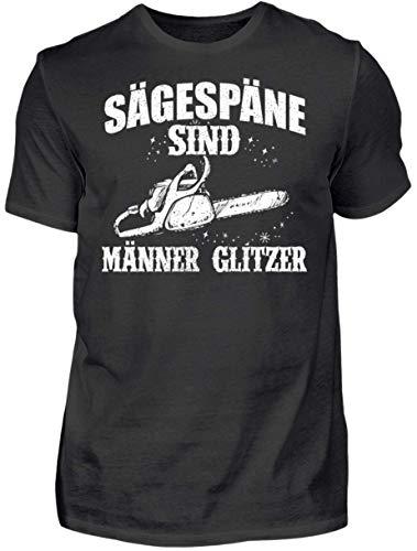 HOLZBRÜDER® Holz T-Shirt Sägespäne sind Männerglitzer - Wald - Kettensäge - Fichten (L)