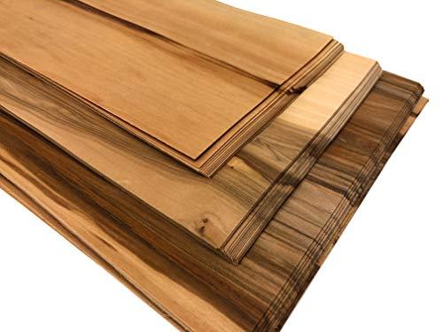 1qm Holzfurniere = 17-28 Platten, Echtholz Furniere aus Massivholz in verschiedenen Holzarten. Bastelholz – Platten, Edelholz Holzfurnier zum Basteln Holzplatte Bastelset (Kernahorn)