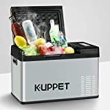 KUPPET Portable Refrigerator/Fridge 26Qt, Vehicle Refrigerator - Car Freezer, Dual Temperature Electric Cooler for Camping, Beach Party, Travel, Picnic Outdoor - 12/24V DC and 100-240V AC, -4°F ~ 68°F