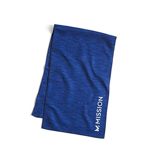 Mission Toalla de enfriamiento grande, Premium, Techknit, hidroactiva, Azul