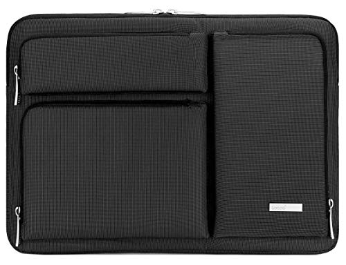Lacdo Laptop Sleeve Case Bag for 13-inch New MacBook Air with Retina Display A2179 A1932, 13 inch New MacBook Pro USB-C A2159 A1989 A1706 A1708 2016-2020, with Accessory Pocket Water Repellent, Black