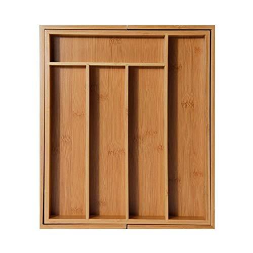 MEICHENG-DZ Aggiornamento Espandibile Posate di bambù cassetto Organizzatore Posate Vassoio da Cucina Multifunzionale cassetto Posate Storage Box Semplice