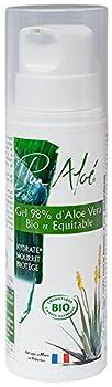 Aloe vera certifié Bio (98 % ) Le gel d'Aloe vera est utilisé depuis des sièclescontre les brûlures, les coupures, les dermatoses,les escarres, les gerçures, les foulures.n L'Aloe vera hydrate la peau, mais il peutaussi conserver l'humidité de la pea...