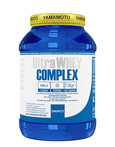 Yamamoto Nutrition Ultra Whey COMPLEX integratore alimentare per sportivi a base di proteine del siero di latte concentrate (Whey Concentrate) ed Isolate (Whey Isolate) (Cioccolato, 2000 grammi)