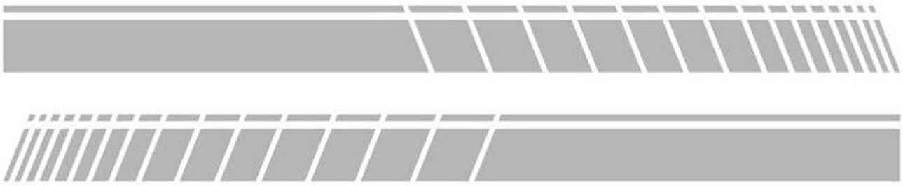 JPVGIA Puerta Lateral de la Falda Deporte Que compite con Rayas de la Etiqueta engomada del Coche for BMW Mini Cooper S Clubman F55 F56 F54 F60 R56 R57 R55 3-5 Puertas (Color : Silver)