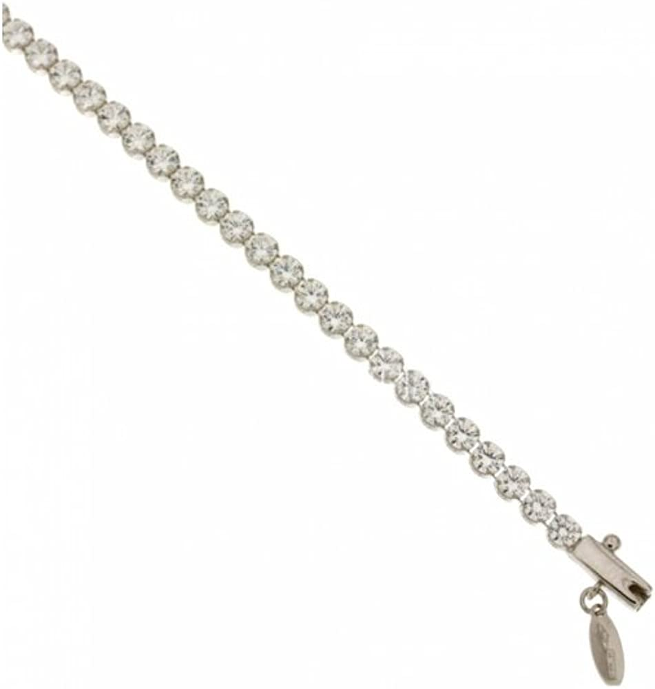 Maglione gioielli bracciale tennis in oro bianco 18kt /750 (5 gr)con zirconi taglio brillante br-151