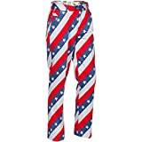 Royal & Awesome Men's Golf Pants, Pars and Stripes, 32W x 32L
