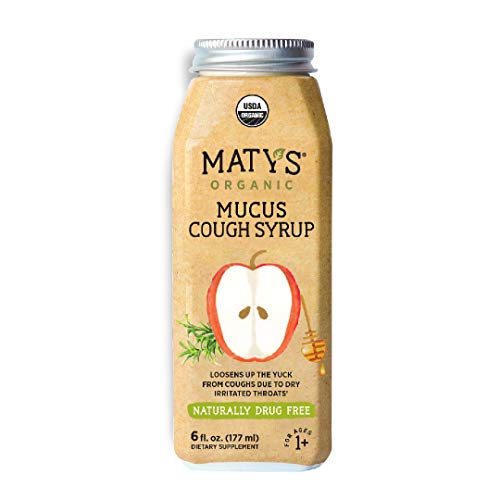 Maty's Organic Mucus Cough Syrup, Made with Organic Honey, Thyme & Ginger - 6 fl oz.
